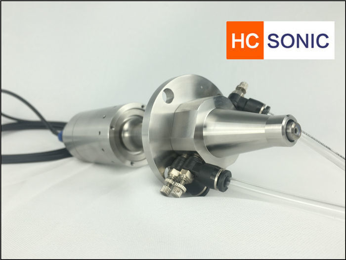 Flat / Round Spray Ultrasonic Atomizing Spray Nozzle 30Khz For Micron Coating